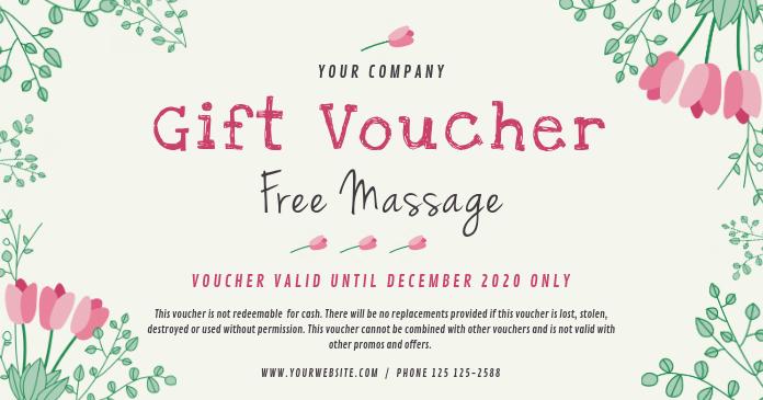 Spa Gift Voucher Facebook 共享图片 template
