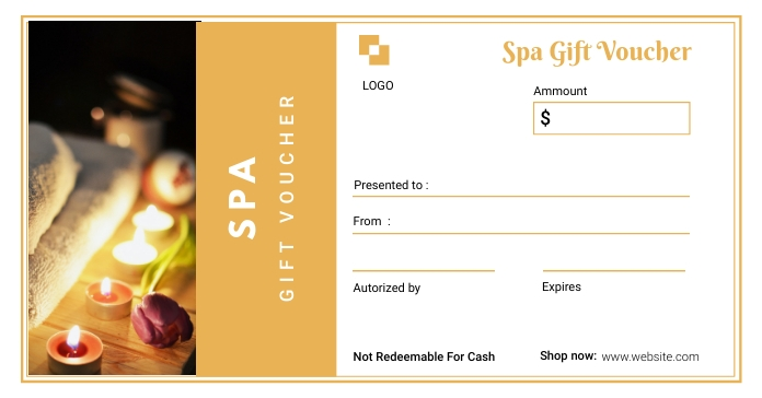 Spa Gift Voucher Template Facebook Ad
