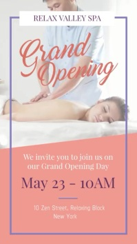 Spa Grand Opening Portrait Digital Display Video template
