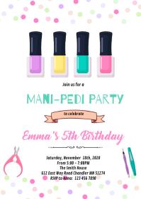 Spa mani pedi birthday invitation