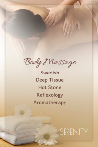 spa massage Poster template