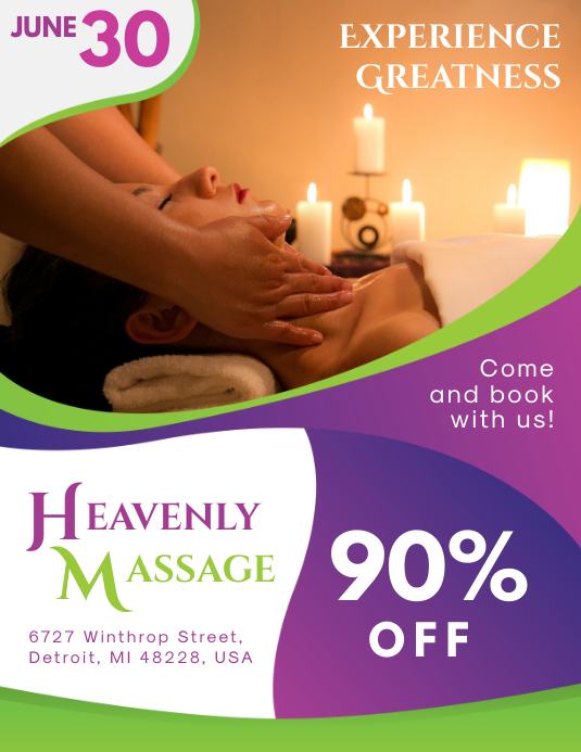 Spa Massage Parlor Flyer Template