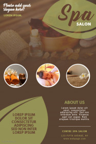 spa massage salon business flyer template