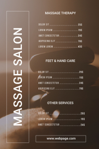 Spa Massage Salon Price List Poster template