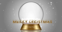 Spa Merry Christmas Snowglobe Imagen Compartida en Facebook template