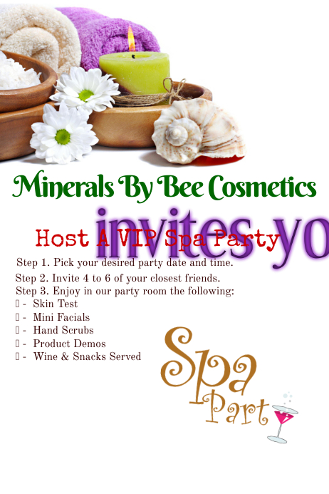 spa party flyer template