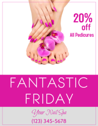 Spa Pedicure Flyer