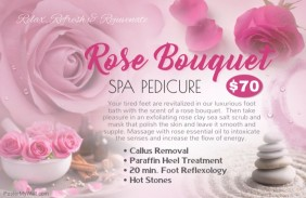 spa pedicure small poster