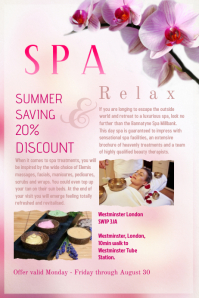 Spa Poster Template