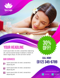 Spa Promotional Flyer Volantino (US Letter) template