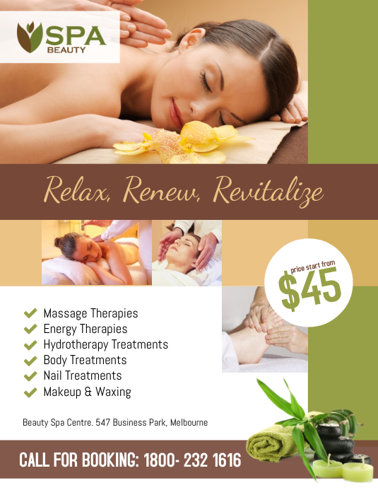 spa salon beauty flyer poster template postermywall