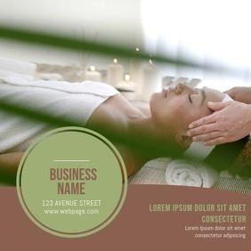 Spa Salon Business card video template