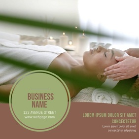 Spa Salon Business card video template