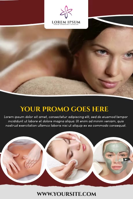 SPA SALON Plakat template