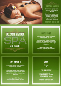 Spa Template Flyer A4