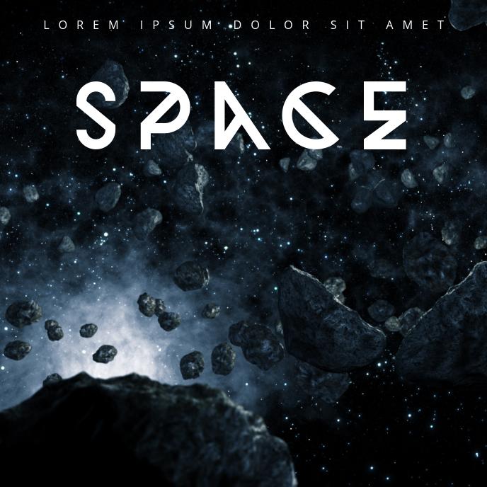 Space Album Cover Template