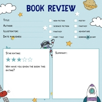 Space Astronaut Book Review Instagram Post Te template