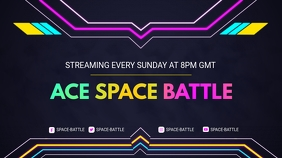 Space Battle Game Twitch Profile Banner template