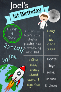 Space Boy Brag Poster