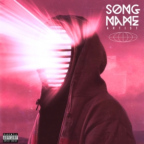 Space Boy CD Cover Music Template Copertina album