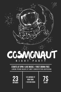 Space Cosmonaut Flyer Template