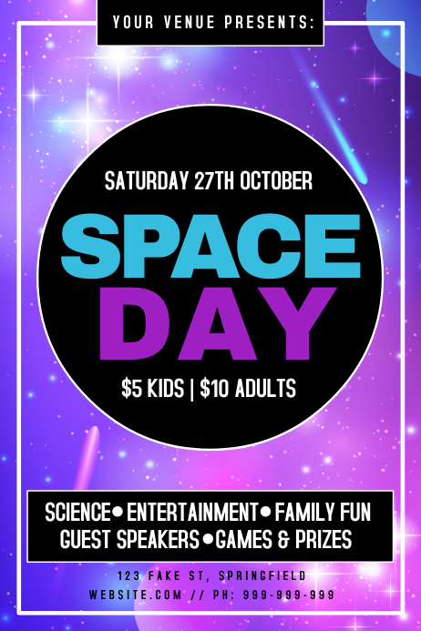 Space Day Poster Iphosta template