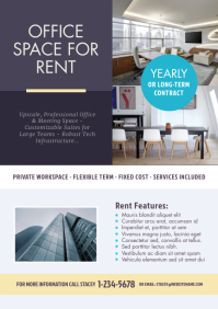 Space for Rent flyer A4 template