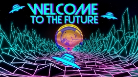Neon Space Future Digitale display (16:9) template