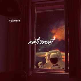 Space Galaxy Astronout Mixtape Cover