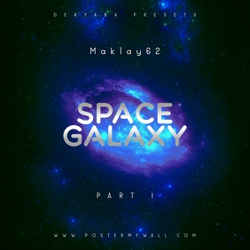 Space Galaxy Cosmos 1 Music CD Cover Art template