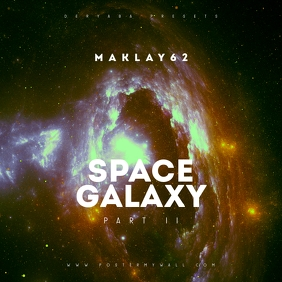 Space Galaxy Cosmos 2 Music CD Cover Art template