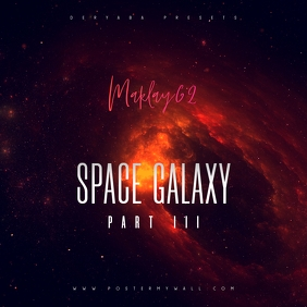 Space Galaxy Cosmos 3 Music CD Cover Art template