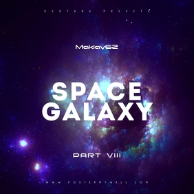 Space Galaxy Cosmos 8 Music CD Cover Art