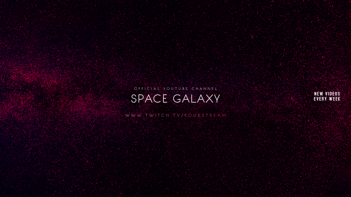 Space Galaxy Gamer Youtube Channel Art Banner Template