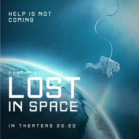Space Movie Poster Publicación de Instagram template