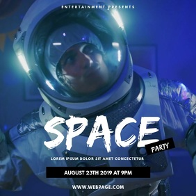 Space party video design instagram