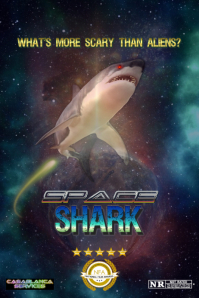 SPACE SHARK Poster template