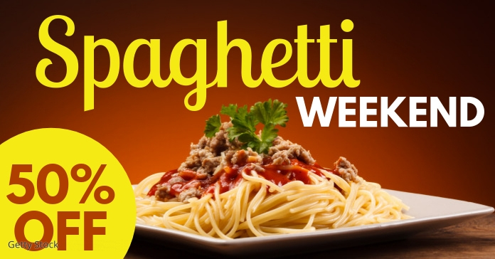 spaghetti Facebook Advertensie template