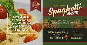 Spaghetti Dinner Facebook Shared Image template