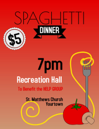 Spaghetti Dinner Flyer