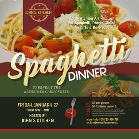 Spaghetti Dinner Instagram Post