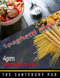spaghetti dinner night flyer
