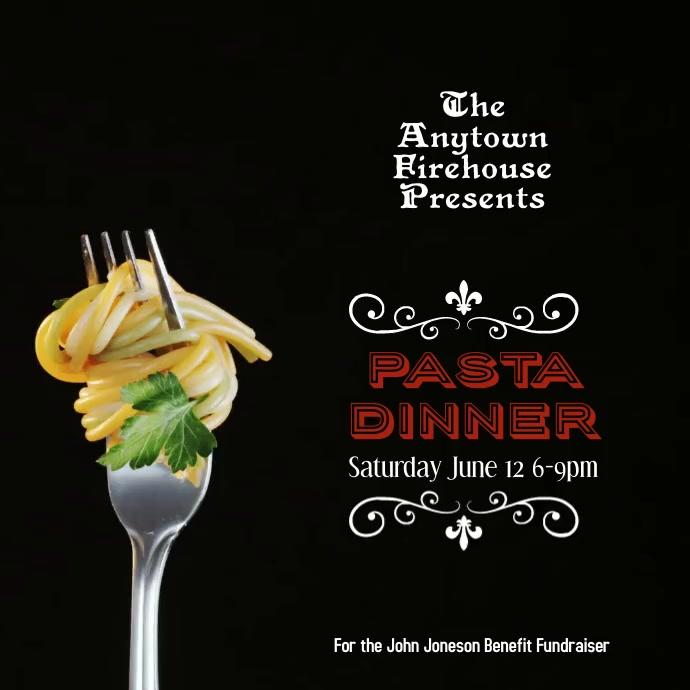 Spaghetti Dinner Night Fundraiser Instagram template