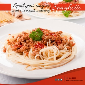 Spaghetti Instagram Post Template