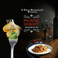 Spaghetti Pasta Dinner Night Instagram Instagram-bericht template