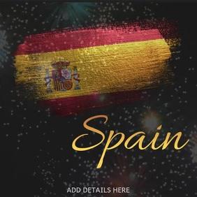 Spain Template สี่เหลี่ยมจัตุรัส (1:1)