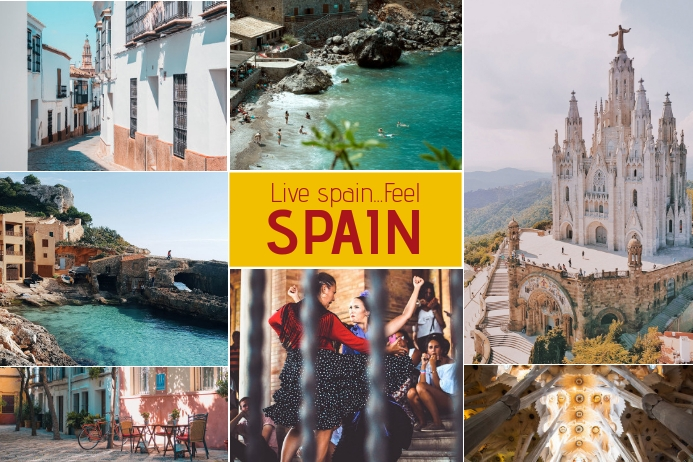 Spain Travel Collage For Family Template Postermywall