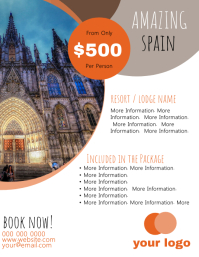 Spain Travel Flyer Template