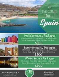 Spain Travel Poster Flyer Template