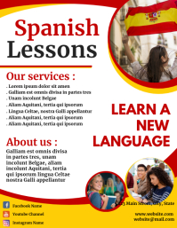 Spanish classes flyer template